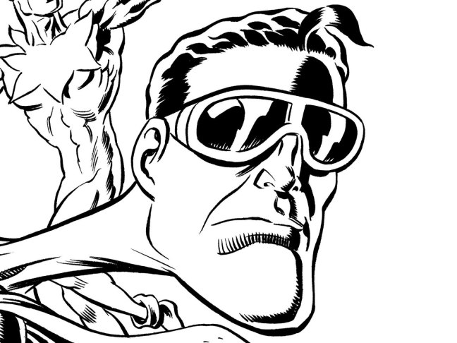 Detail from one of Barta's upcoming covers for Plastic Man and the Freedom Fighters.